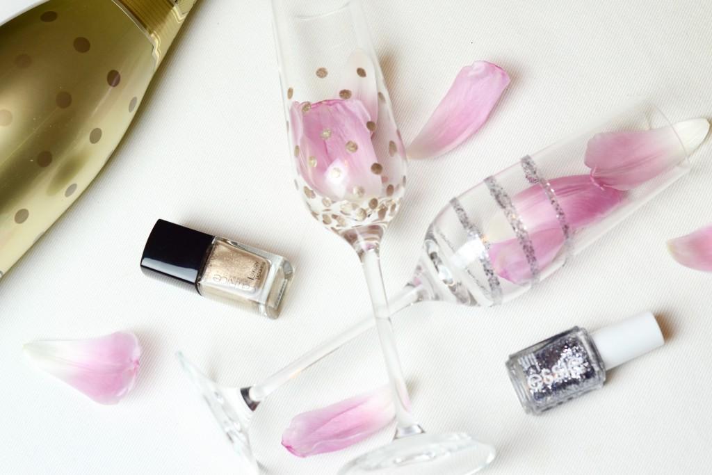 kreativ Gläser mit nagellack gestalten